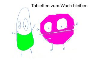 Tabletten zum Wachbleiben
