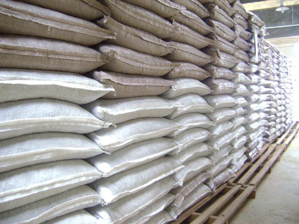 Guarana in Säcken für den Export